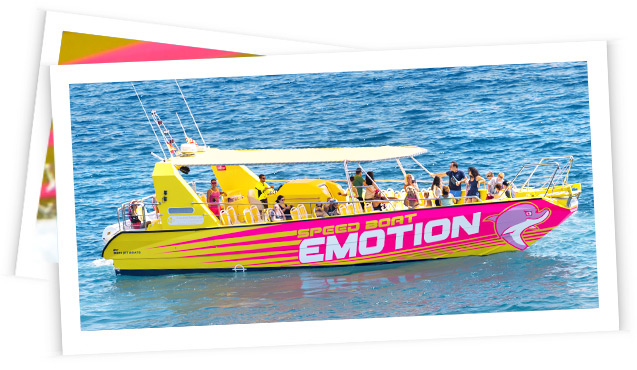 Hop on board the Emotion and come to Sant Feliu